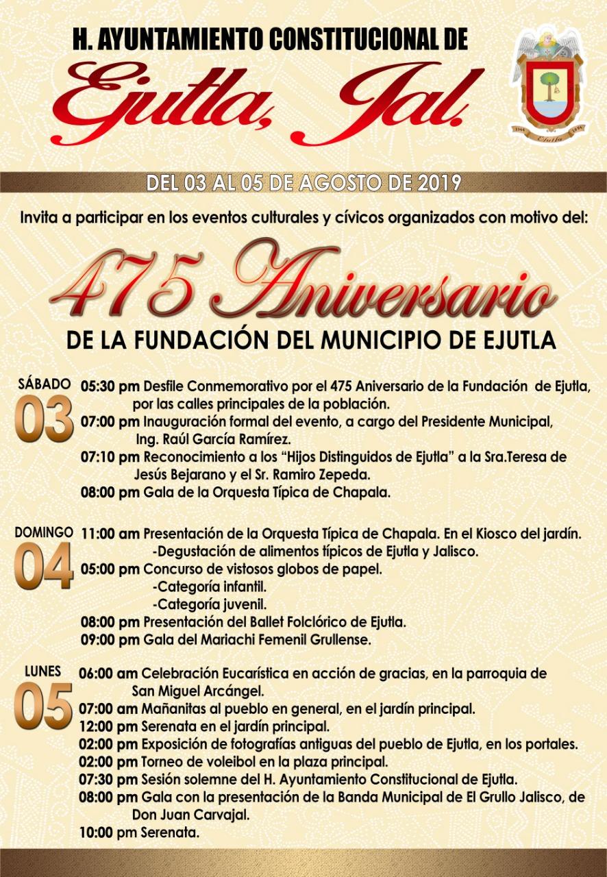 Celebración de aniversario del municipio
