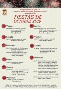 Programa Fiestas de Octubre 2019